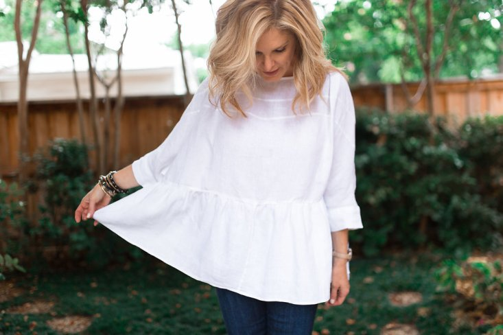 Sole Society, Vince bag, skinny jeans with white linen top, Lifestyle blogger, Tanya Foster