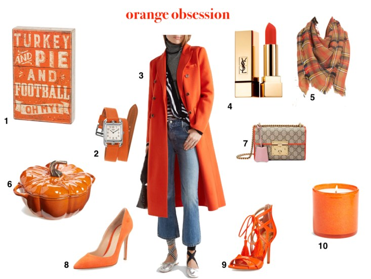 My orange obsession includes a lot of fall favorites that you need right now!