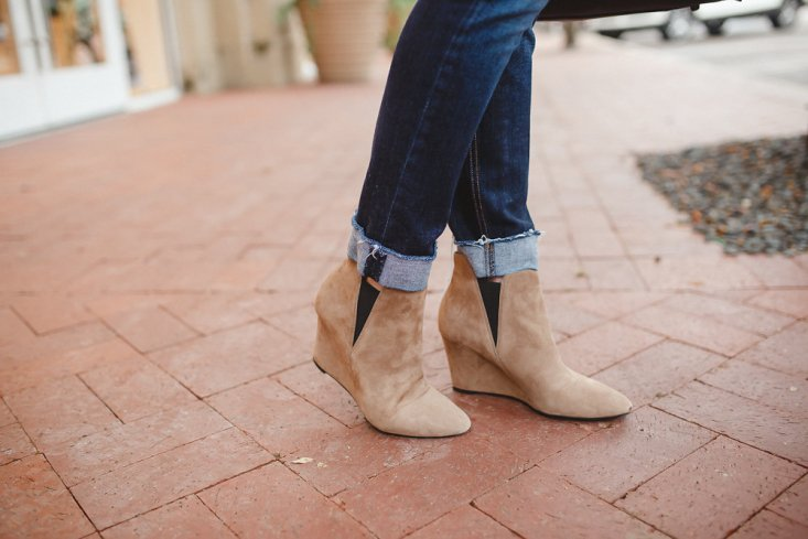 Tanya Foster and Laura Fish style nude booties, skinny jeans and sweaters for young and old.