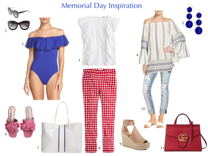 Red, white and blue items perfect for Memorial Day weekend on TanyaFoster.com