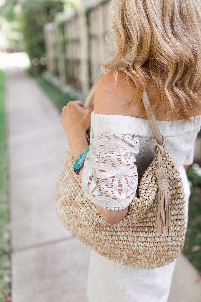 A lace little white dress from Chico's for summer.