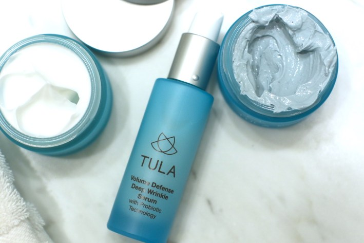 Trying three new Tula products that will be on QVC soon.