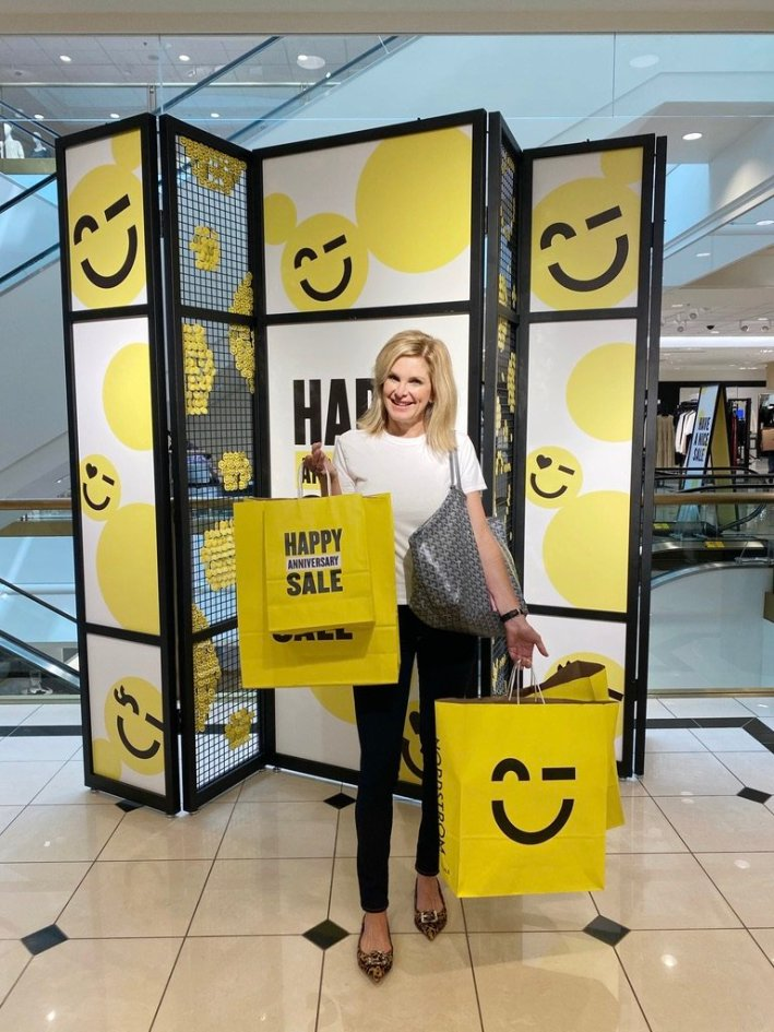 Tanya Foster shopping the Nordstrom Anniversary Sale