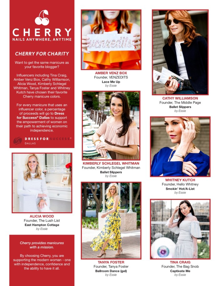 Cherry Influencer promotion in Dallas