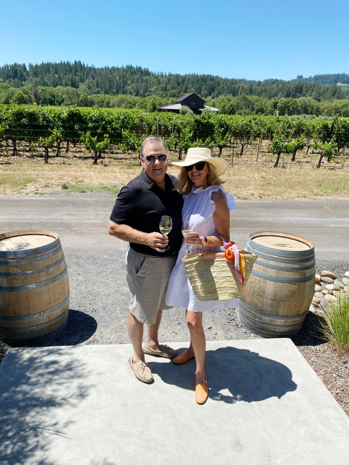 Pete and Tanya Foster at Comstock Winery