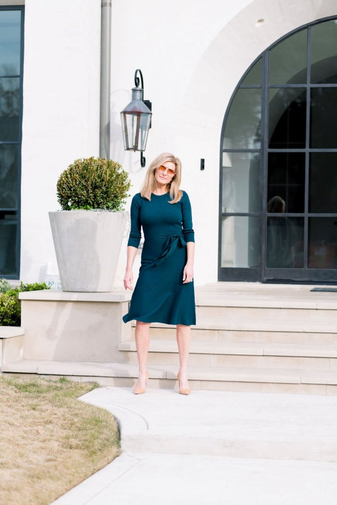 Teal Eliza J wrap dress