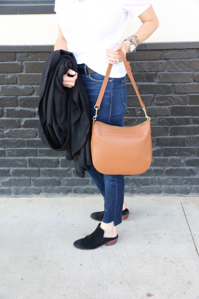 Cuyana launches their new small hobo bag in pebbled leather.