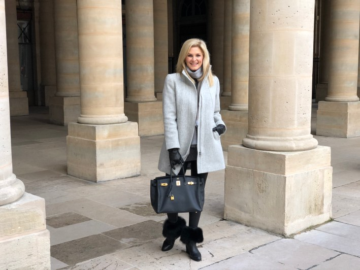 Visiting the Palais-Royal in Paris, France for our 25th anniversary