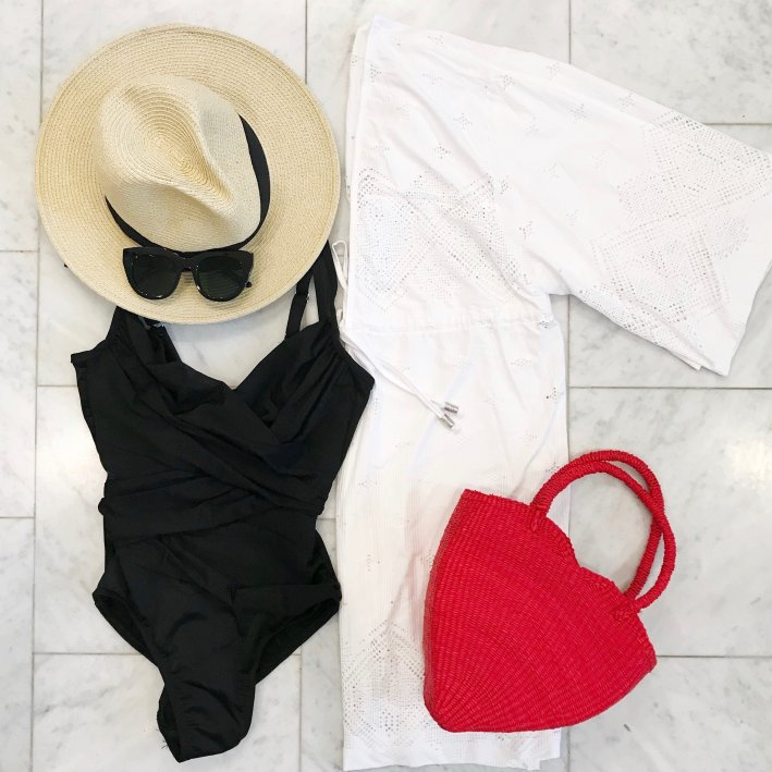 Soma swimsuit and Cabana Life coverup perfect for vacation!