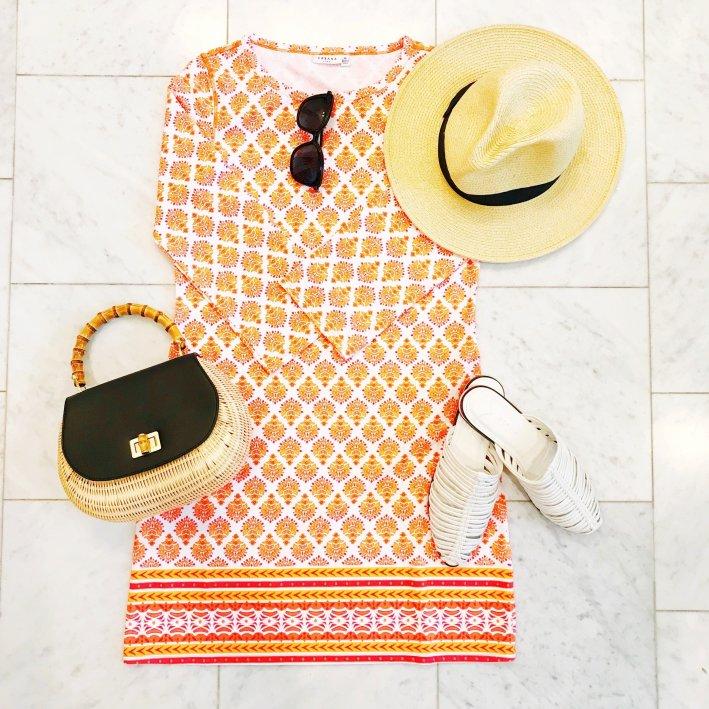 Cabana Life printed dress for Caribbean vacation