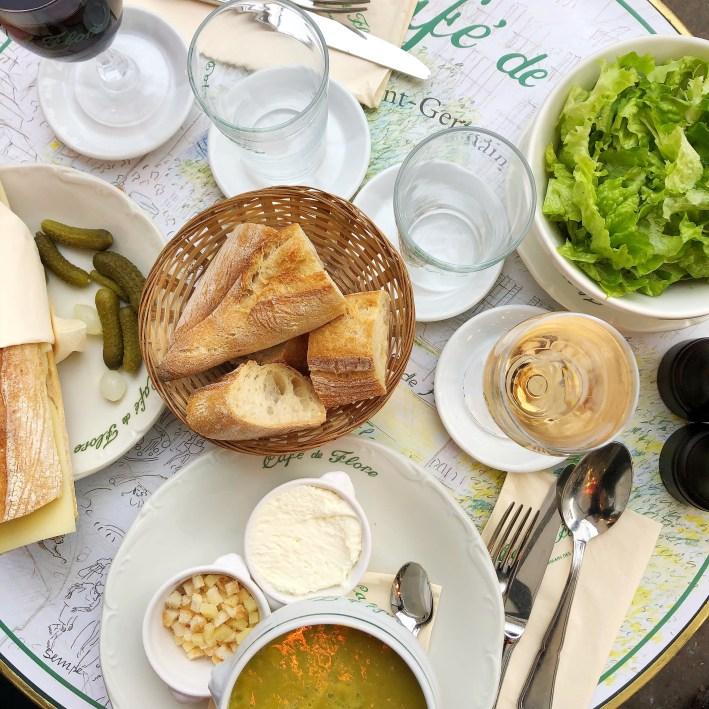Cafe de Flore in Paris, France