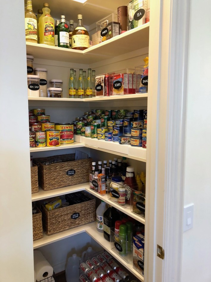 NEAT Method and The Container Store pantry organization