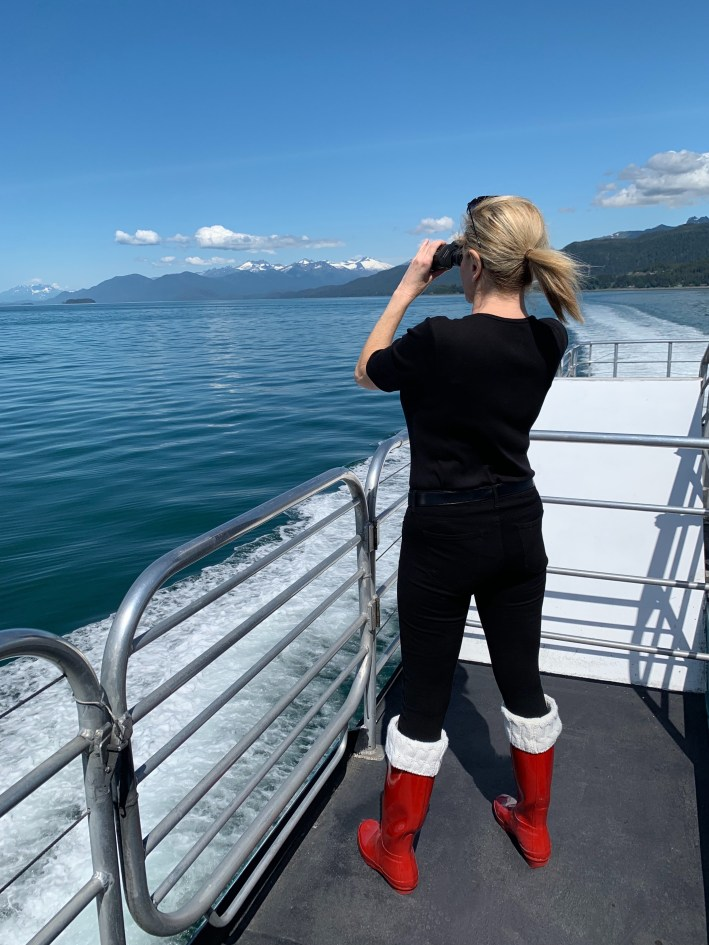 Top 10 Reasons to Book a Disney Cruise to Alaska featured by top US travel blogger, Tanya Foster: image of Whale Watching in Juneau, Alaska with Disney Wonder