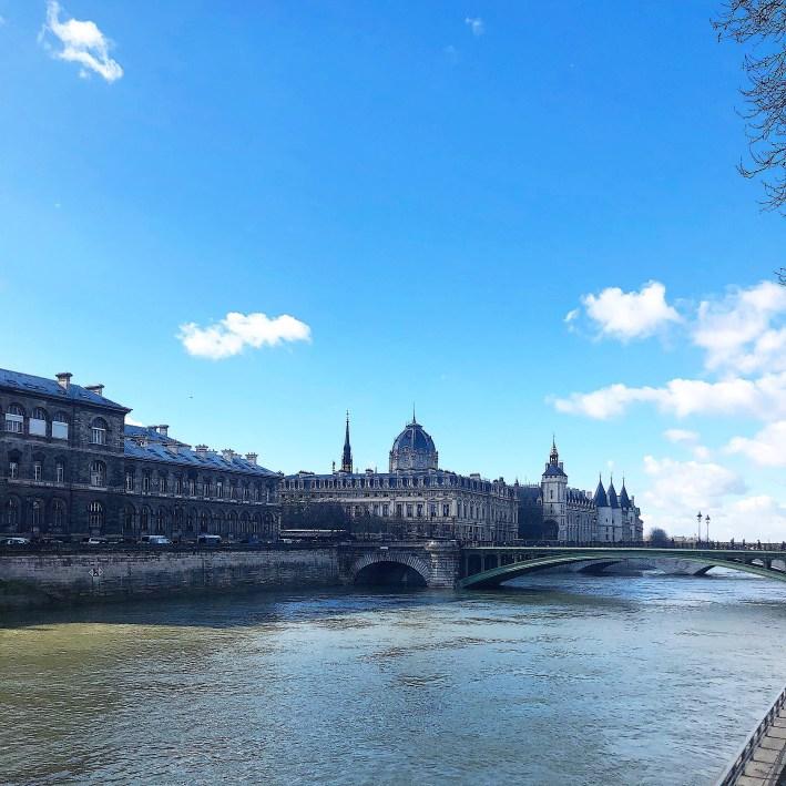 The Seine River in Paris, France