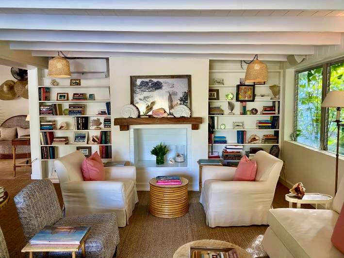 Living room at The Dunmore Resort and Harbour Island, Bahamas