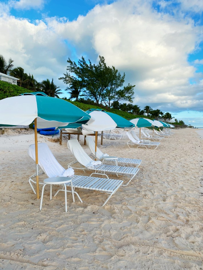 Pink sand beach at The Dunmore Resort and Harbour Island, Bahamas
