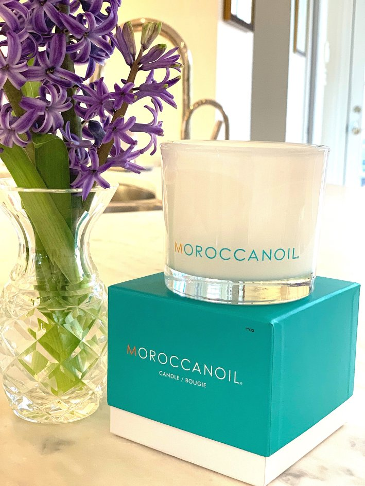 The Moroccan Oil candle smells just a wonderful as all of their hair and skincare products!