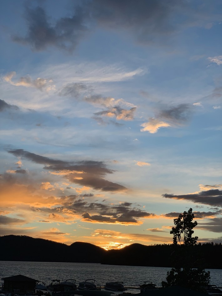 Whitefish, Montana and Glacier Country in the summer have spectacular sunsets
