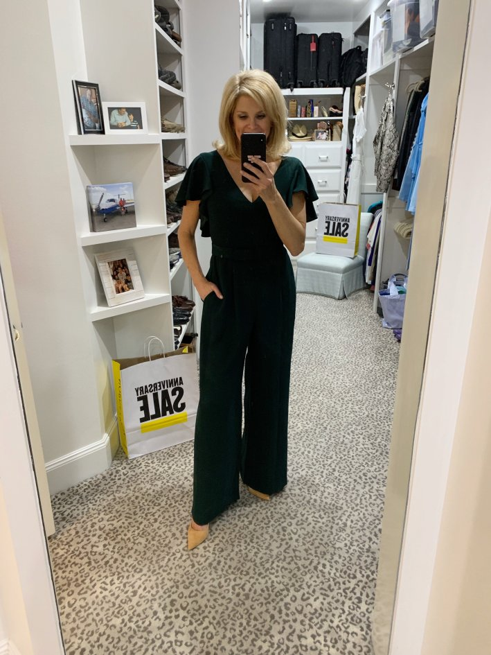Top US fashion blogger, Tanya Foster shops the Nordstrom Anniversary Sale: image of Tanya Foster in Eliza J jumpsuit
