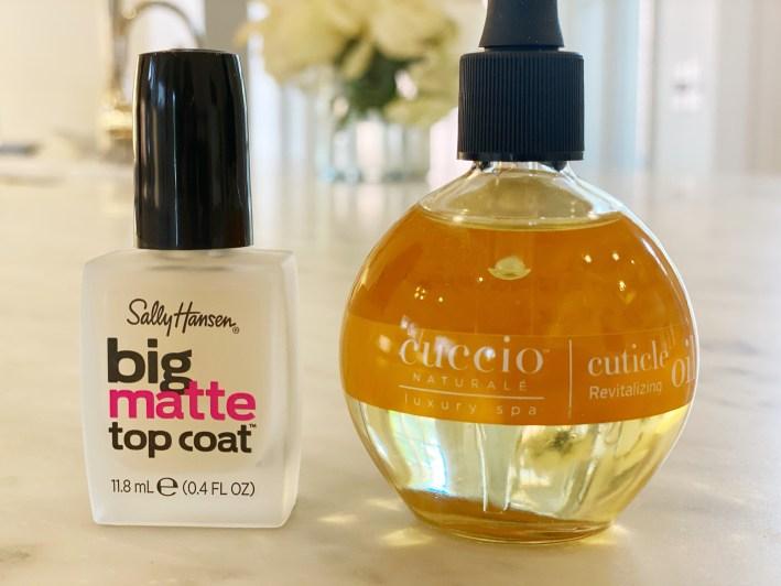 big matte top coat and cuccio naturale cuticle revitalizing oil