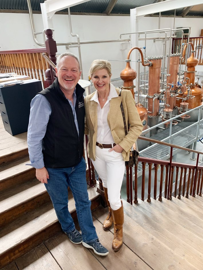 Blackwater Distillery, Ireland | 8 Reasons to travel to Ireland now! by popular Dallas travel blogger, Tanya Foster: image of a woman at Blackwater distillery.