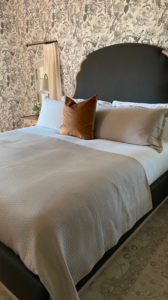 Jordan Winery chateau suite king bed