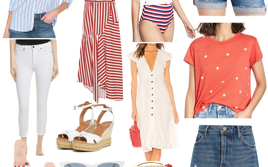 Red, White & Blue Outfit Inspiration for Fourth of July and a GIVEAWAY!