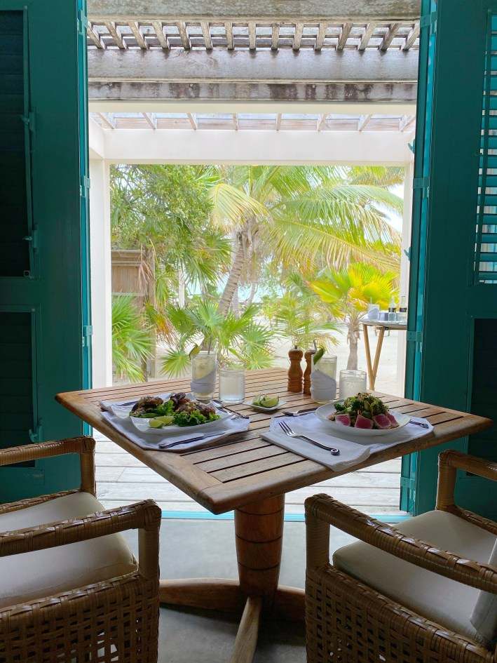 Lunch is served in our private villa