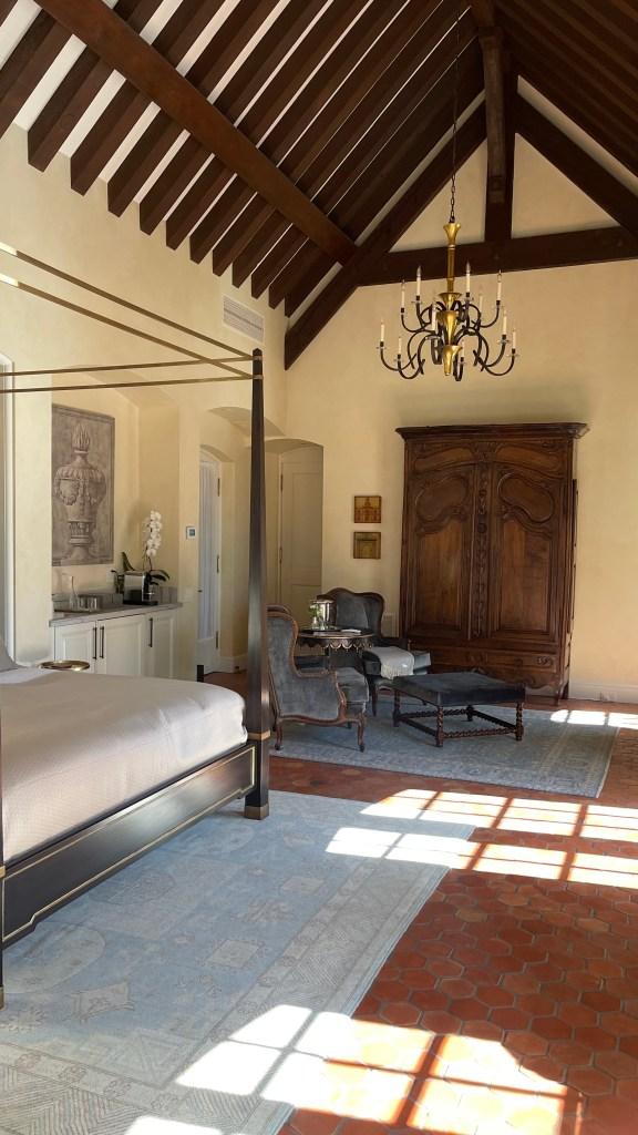 Renovated chateau suite at Jordan Winery