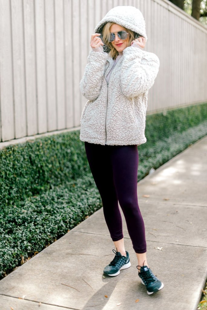 Teddy Bear coats and athletic clothes on Tanya Foster.com