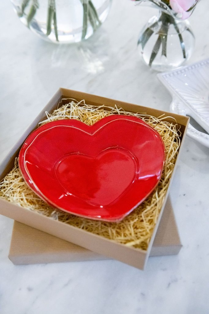 Vietri plate for Valentine's Day