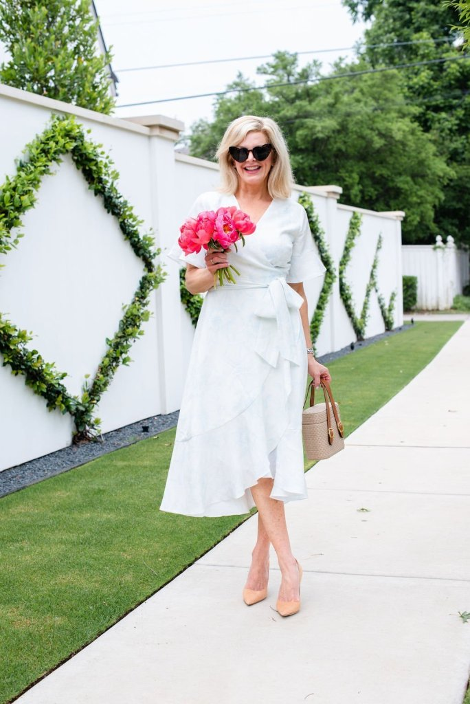 Linen wrap dress for the summer season!