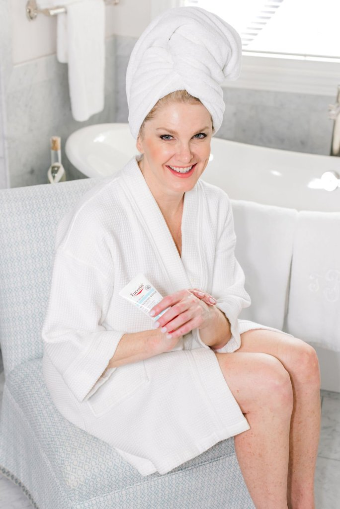 Tanya Foster uses 5 products from Eucerin to combat dry, winter skin