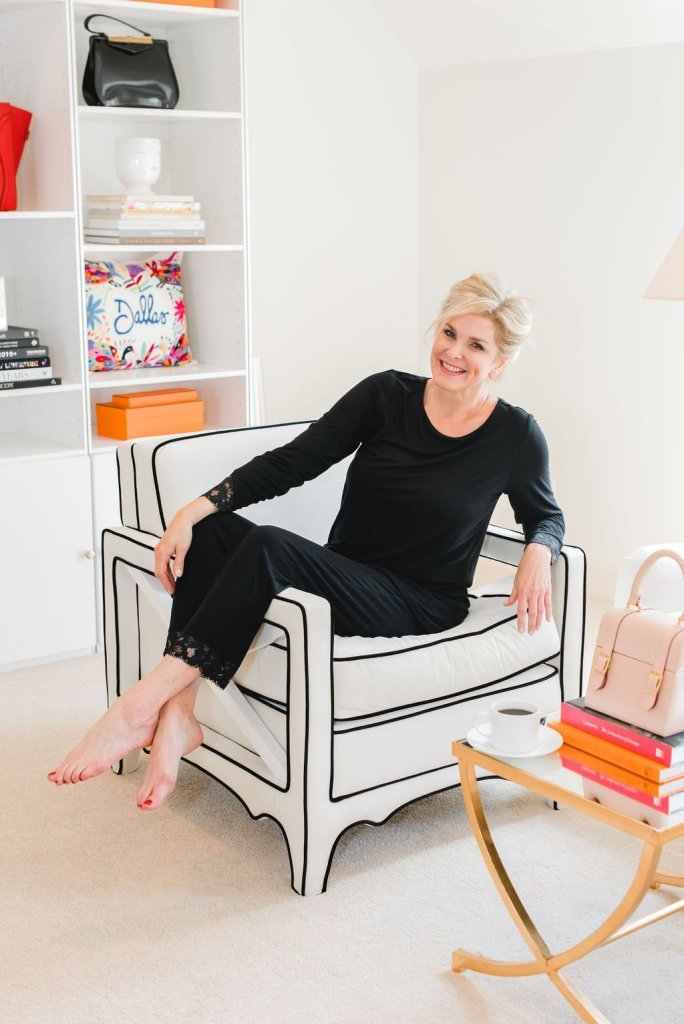 7 Ways to relax | 7 Easy Ways to Relax by popular Dallas life and style blogger, Tanya Foster: image of a woman lounging in her chair.