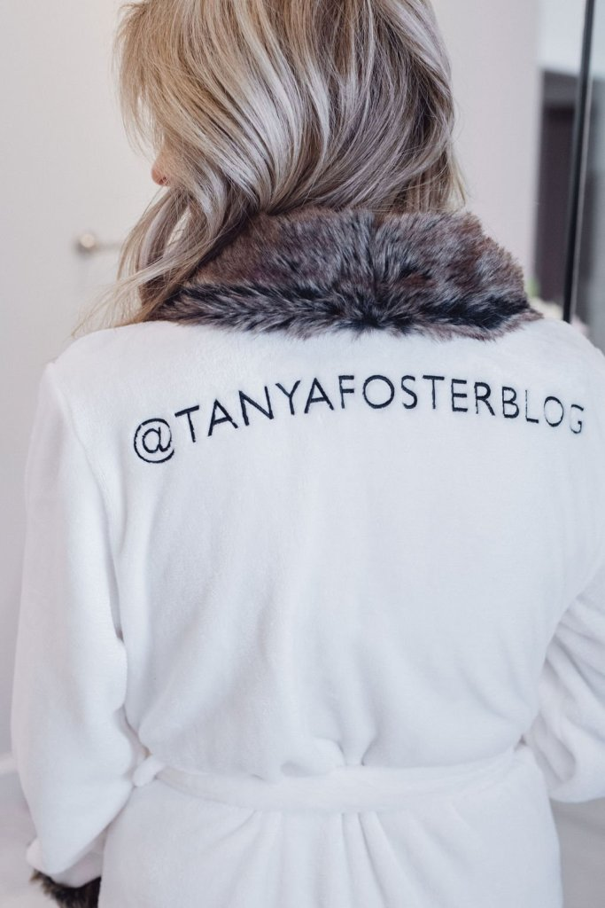 Tanya Foster in a plush robe