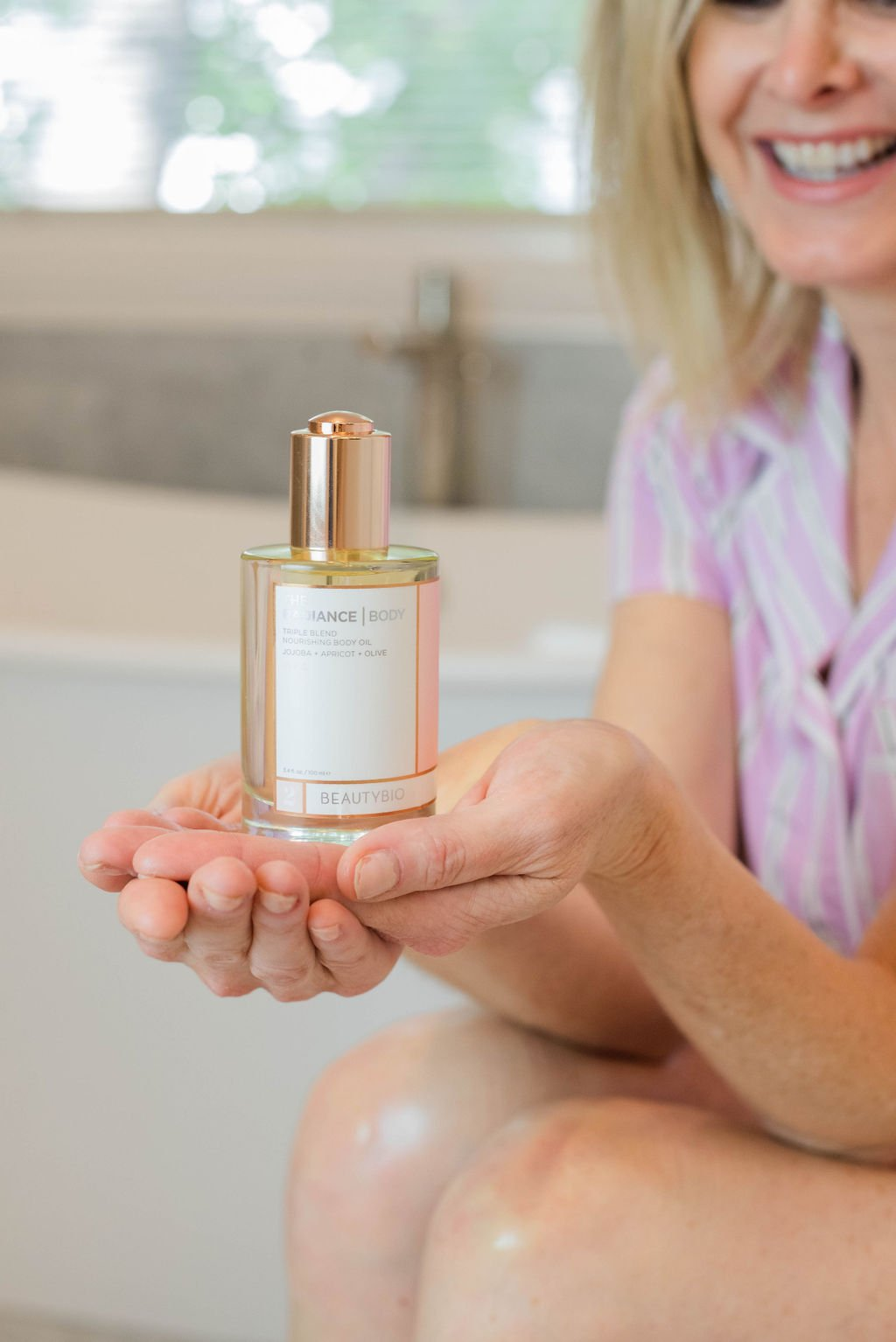 Beauty Bio Radiance Body Oil review featured by top US beauty blogger, Tanya Foster
