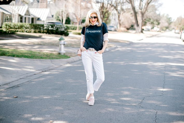 How to dress up or dress down a t-shirt on TanyaFoster.com