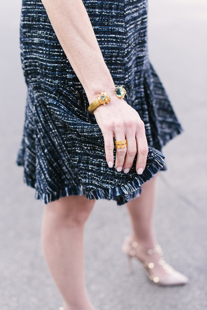 Tanya Foster celebrates her 4th Blog Anniversary in an Eliza J dress and Julie Vos jewelry