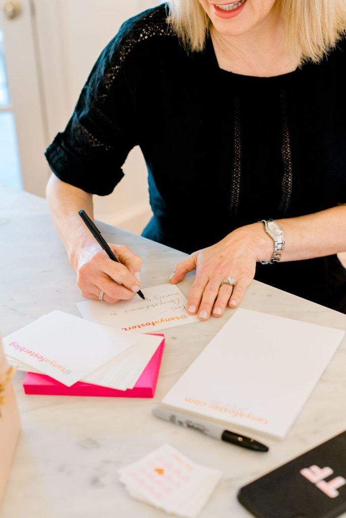 Tanya Foster using Joy Creative Stationary