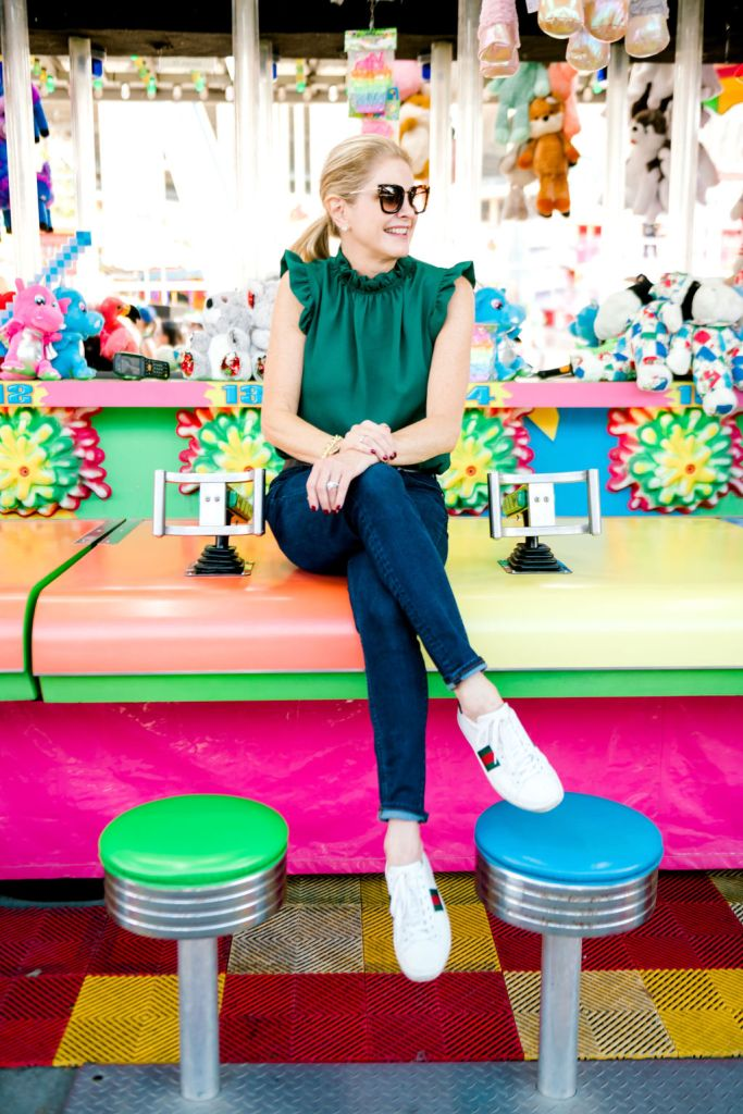 Tanya Foster at the Texas State Fair wearing avara