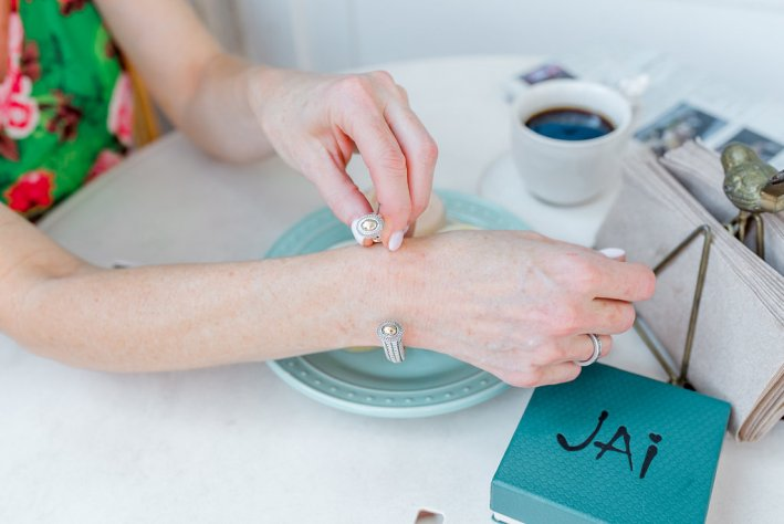 Tanya Foster features JAI jewelry from QVC