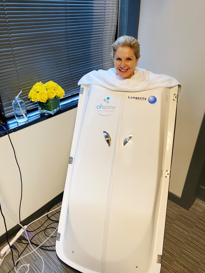 Tanya Foster in an OhZone pod
