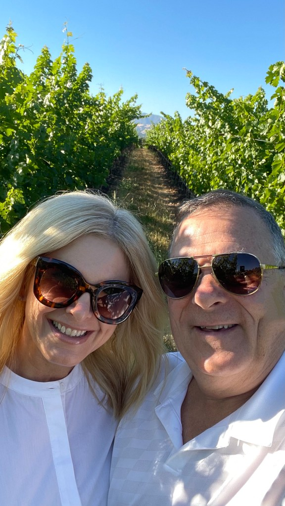 Tanya and Pete Foster in the vineyard