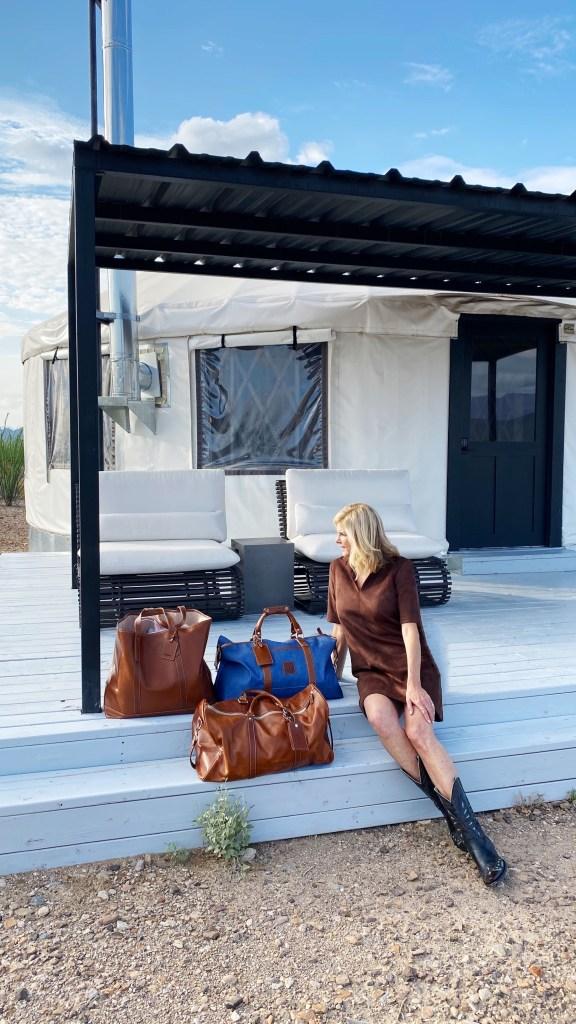 Tanya in front of yurt 4