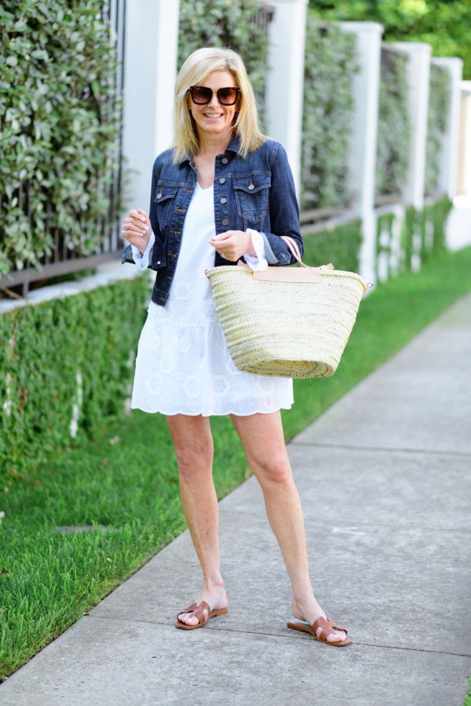 Tanya Foster sail to sable dress and jean jacket