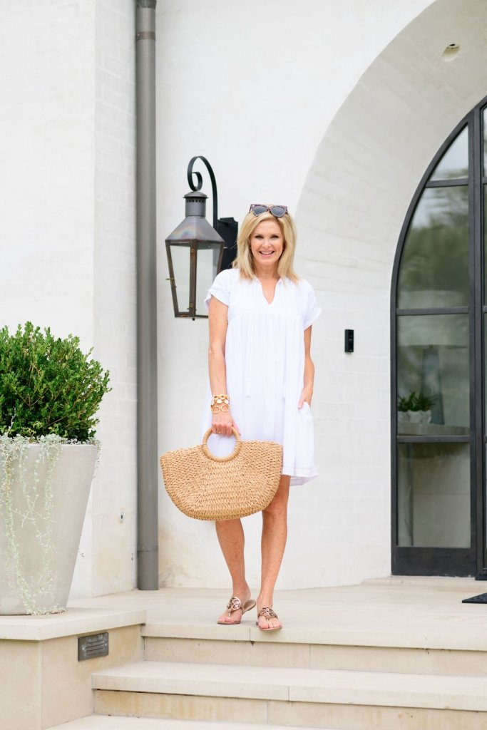 Tanya Foster in J. Marie Collections white dress