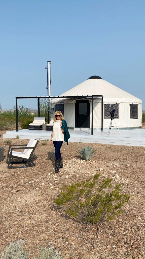 Tanya with yurt 4