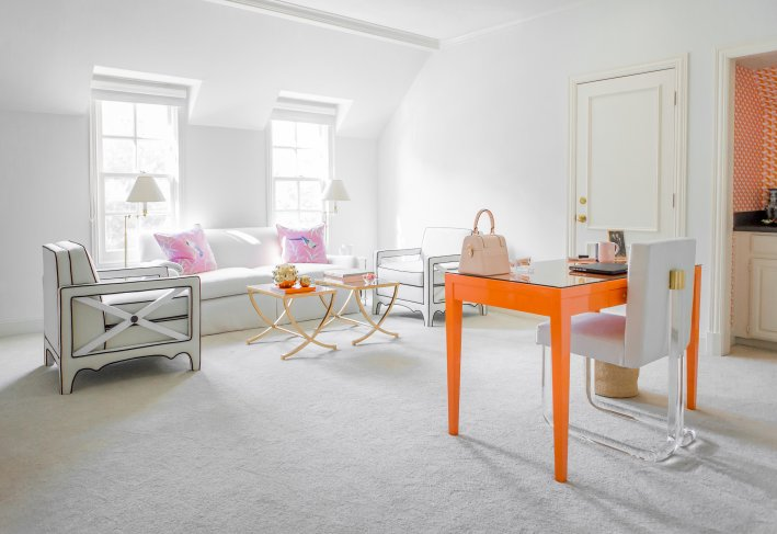 The home office of blogger Tanya Foster designed by Amy Berry Design