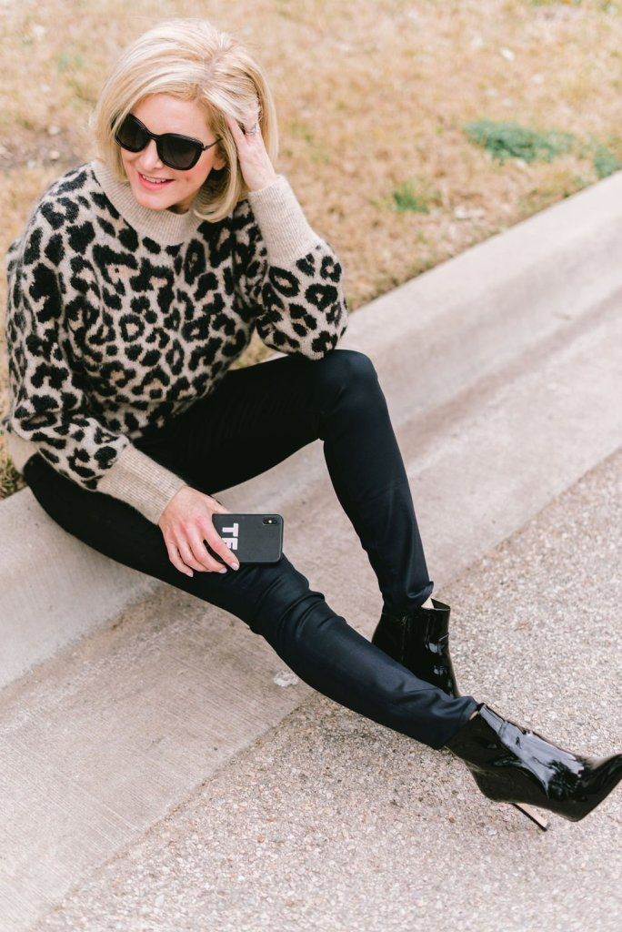 How to wear animal print with chic skinnies