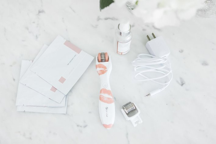 Plump up your lips with an at home device - the GloPRO® Lip Edition Microneedling Regeneration Tool